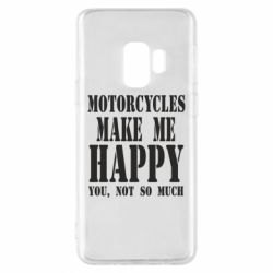 Чехол для Samsung S9 Motorcycles make me happy you not so much - FatLine