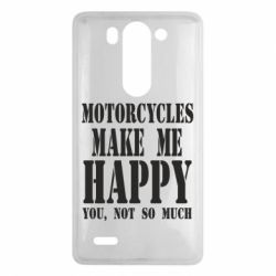 Чехол для LG G3 mini/G3s Motorcycles make me happy you not so much - FatLine