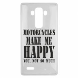 Чехол для LG G4 Motorcycles make me happy you not so much - FatLine