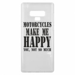 Чехол для Samsung Note 9 Motorcycles make me happy you not so much - FatLine