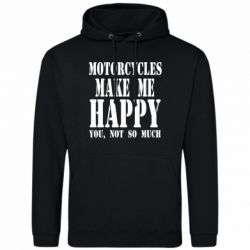 Чоловіча толстовка Motorcycles make me happy you not so much