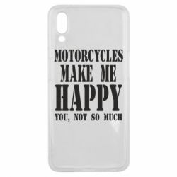 Чехол для Meizu E3 Motorcycles make me happy you not so much - FatLine