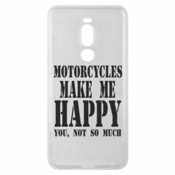 Чехол для Meizu Note 8 Motorcycles make me happy you not so much - FatLine