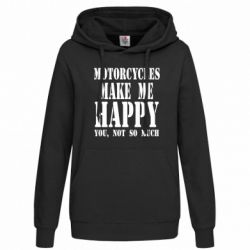 Толстовка жіноча Motorcycles make me happy you not so much
