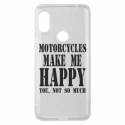 Чехол для Xiaomi Redmi Note 6 Pro Motorcycles make me happy you not so much - FatLine