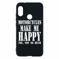 Чехол для Mi A2 Lite Motorcycles make me happy you not so much - FatLine