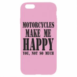 Чехол для iPhone 6/6S Motorcycles make me happy you not so much - FatLine