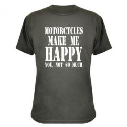 Камуфляжная футболка Motorcycles make me happy you not so much
