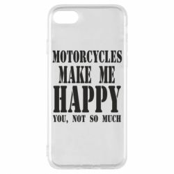 Чехол для iPhone 7 Motorcycles make me happy you not so much - FatLine