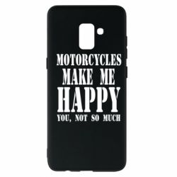 Чехол для Samsung A8+ 2018 Motorcycles make me happy you not so much - FatLine