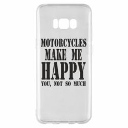 Чехол для Samsung S8+ Motorcycles make me happy you not so much - FatLine