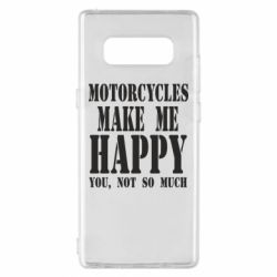 Чехол для Samsung Note 8 Motorcycles make me happy you not so much - FatLine