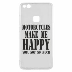Чехол для Huawei P10 Lite Motorcycles make me happy you not so much - FatLine