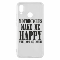 Чехол для Huawei P20 Lite Motorcycles make me happy you not so much - FatLine