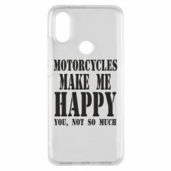 Чехол для Xiaomi Mi A2 Motorcycles make me happy you not so much - FatLine