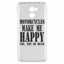 Чехол для Xiaomi Redmi 4 Motorcycles make me happy you not so much - FatLine