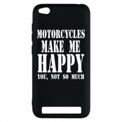 Чехол для Xiaomi Redmi 5a Motorcycles make me happy you not so much - FatLine