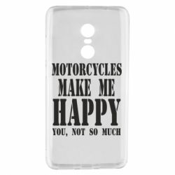 Чехол для Xiaomi Redmi Note 4 Motorcycles make me happy you not so much - FatLine