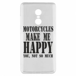 Чехол для Xiaomi Redmi Note 4x Motorcycles make me happy you not so much - FatLine