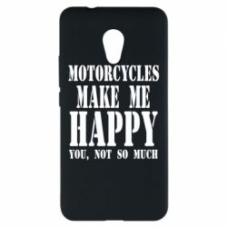 Чехол для Meizu M5s Motorcycles make me happy you not so much - FatLine