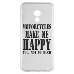 Чехол для Meizu Pro 6 Motorcycles make me happy you not so much - FatLine