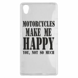 Чехол для Sony Xperia Z1 Motorcycles make me happy you not so much - FatLine