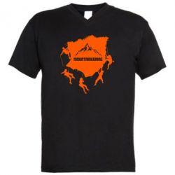 Чоловіча футболка з V-подібним вирізом Mountaineering