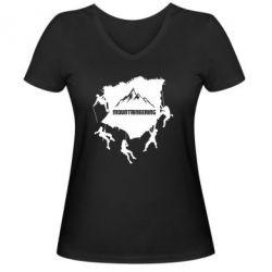 Жіноча футболка з V-подібним вирізом Mountaineering