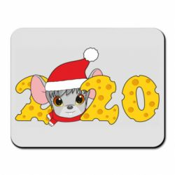 Коврик для мыши Mouse and 2020 in the form of cheese