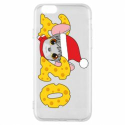 Чехол для iPhone 6/6S Mouse and 2020 in the form of cheese