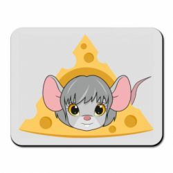 Коврик для мыши Mouse and a piece of cheese