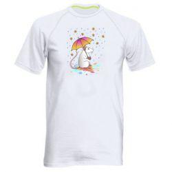 Чоловіча спортивна футболка Mouse and rain