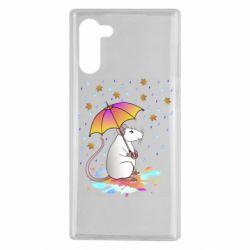 Чохол для Samsung Note 10 Mouse and rain