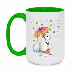 Кружка двоколірна 420ml Mouse and rain