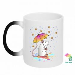 Кружка-хамелеон Mouse and rain