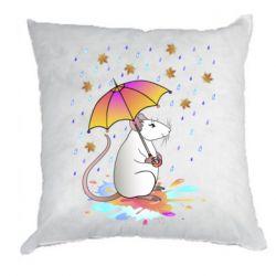 Подушка Mouse and rain