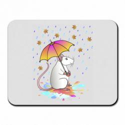 Килимок для миші Mouse and rain