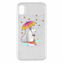 Чохол для iPhone X/Xs Mouse and rain