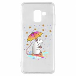 Чохол для Samsung A8 2018 Mouse and rain