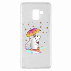 Чохол для Samsung A8+ 2018 Mouse and rain