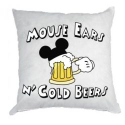 Подушка Mouse Ears n' Cold Beers