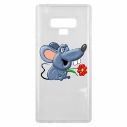 Чехол для Samsung Note 9 Mouse with a flower