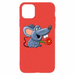 Чехол для iPhone 11 Mouse with a flower