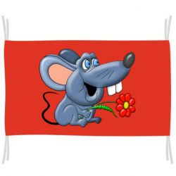 Флаг Mouse with a flower