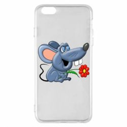 Чехол для iPhone 6 Plus/6S Plus Mouse with a flower