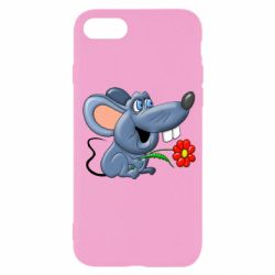 Чехол для iPhone 7 Mouse with a flower