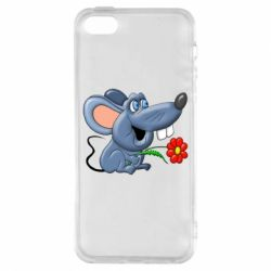 Чехол для iPhone5/5S/SE Mouse with a flower