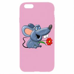 Чехол для iPhone 6/6S Mouse with a flower