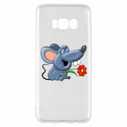 Чехол для Samsung S8 Mouse with a flower