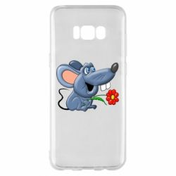 Чехол для Samsung S8+ Mouse with a flower